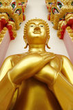 Golden Buddha statue. In Thailand Stock Images