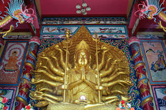 Golden buddha statue. At Thailand Royalty Free Stock Image