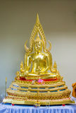 Golden Buddha statue in Thailand. Buddha Temple Royalty Free Stock Photography