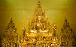 Golden buddha statue thailand temple Royalty Free Stock Image