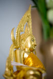 The Golden Buddha statue to gild. Which people use to worship. The buddha image stock photos