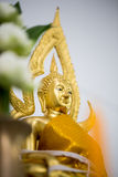 The Golden Buddha statue to gild. Which people use to worship. The buddha image royalty free stock images