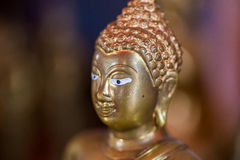 The Golden Buddha statue to gild. Which people use to worship Royalty Free Stock Image