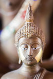 The Golden Buddha statue to gild. Which people use to worship Royalty Free Stock Photos