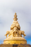 The golden buddha statue on top of Emei mountain in China Stock Photo