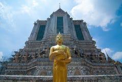 Golden buddha statue at Wat Arun Royalty Free Stock Photography
