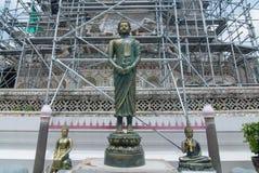 Golden buddha statue at Wat Arun Stock Image