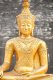 Golden Buddha statue at Wat Chedi Luang, Chiang Mai, Thailand Royalty Free Stock Photos