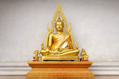 Golden Buddha Statue. At Wat Chedi Luang in Chiangmai Thailand Royalty Free Stock Photography