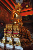 Golden buddha statue at Wat Khun Inthapramun, Thailand Stock Images