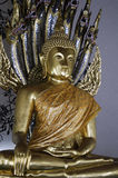 Golden Buddha statue at the Wat Pho Temple Stock Photo