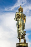 Golden Buddha statue. At Wat Phra That Kao Noi, Nan province, Thailand Royalty Free Stock Photo