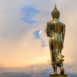 Golden Buddha statue. At Wat Phra That Kao Noi, Nan province, Thailand Stock Photos