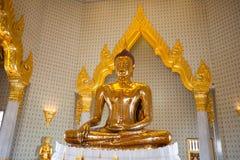 Golden Buddha Statue at Wat Traimit in Bangkok Stock Photos