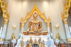 Golden Buddha statue at Wat Traimit, Bangkok, Thailand Royalty Free Stock Images