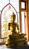 Golden Buddha statue. In wattangsai temple Stock Photo