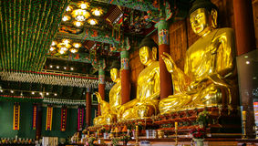 Golden buddha statues Royalty Free Stock Image