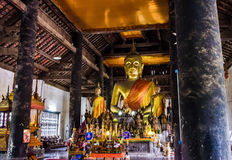 The Golden Buddha statues. Royalty Free Stock Photo