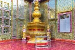 Golden Buddha statues of Su Taung Pyai Pagoda. Mandalay, Myanmar Stock Image
