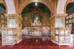 Golden Buddha statues of Su Taung Pyai Pagoda. Mandalay, Myanmar Stock Photo