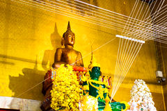 Golden Buddha statues at the temple Luang Poh Pag Dang Nakonnayok Royalty Free Stock Photography