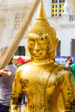 Golden Buddha statues in Thailand Royalty Free Stock Photos