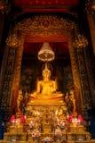 Golden Buddha Statues at Wat Bovorn (Bowon) Nivet Viharn in Bangkok Stock Photos