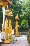 Golden Buddha statues in Wat Sisaket,Vientiane Stock Photography