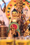 Golden Buddha statuette Royalty Free Stock Photo