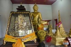 Wat Sakae Krang in Uthai Thani, Thailand. Golden buddha staute for people respect and praying at Wat Sakae Krang in Uthai Thani, Thailand Royalty Free Stock Photos