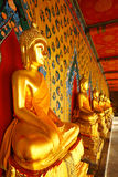Golden buddha in temple Stock Images