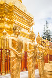 Golden Buddha in Temple Chiang Mai Stock Image