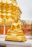 Golden Buddha in Temple Chiang Mai Stock Photos