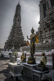 Golden Buddha at Temple of Dawn Stock Photography
