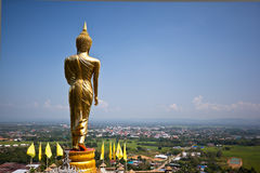 Golden Buddha in a temple of Nan Province Stock Photos