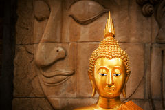 Golden Buddha in Temple Thailand Stock Photography