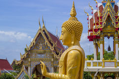 Golden Buddha in the temple Thailand Stock Photo
