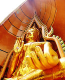 Golden buddha. In the thai temple Royalty Free Stock Image