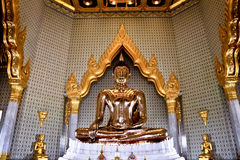 Golden Buddha at thai temple Stock Image