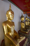 Golden Buddha, Thailand. Golden statue of Wat Pho, Bangkok, Thailand Royalty Free Stock Photo