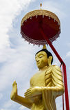 Golden buddha at Thailand. Royalty Free Stock Photos