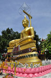 Statue of Buddha at Thai temple Stock Image