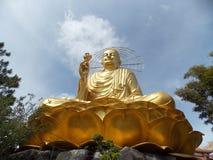 Golden Buddha, Vietnam. Statue Of Golden Buddha, Dalat royalty free stock photo