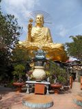 Golden Buddha, Vietnam. Statue Of Golden Buddha, Dalat stock photo