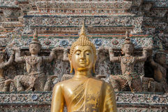 Golden Buddha at Wat Arun, Bangkok, Thailand Stock Image