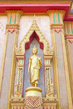 Golden buddha in Wat Chalong Stock Photo