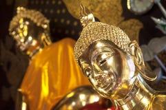 Golden Buddha at Wat Jet Yod, Chiang Mai, Thailand Stock Photos