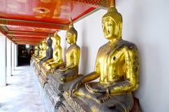 Golden Buddha, Wat Pho. Thailand Stock Photography