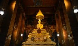 Golden Buddha Wat Ratcha Natdaram. Wat Ratcha Natdaram, the lanmark of Bangkok. Tourism calf admire a lot Royalty Free Stock Image