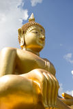 The golden buddha in Wat Sragate Stock Images